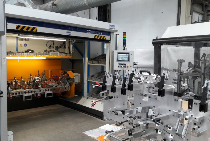Linka s roboty zefektivní svařovací linku